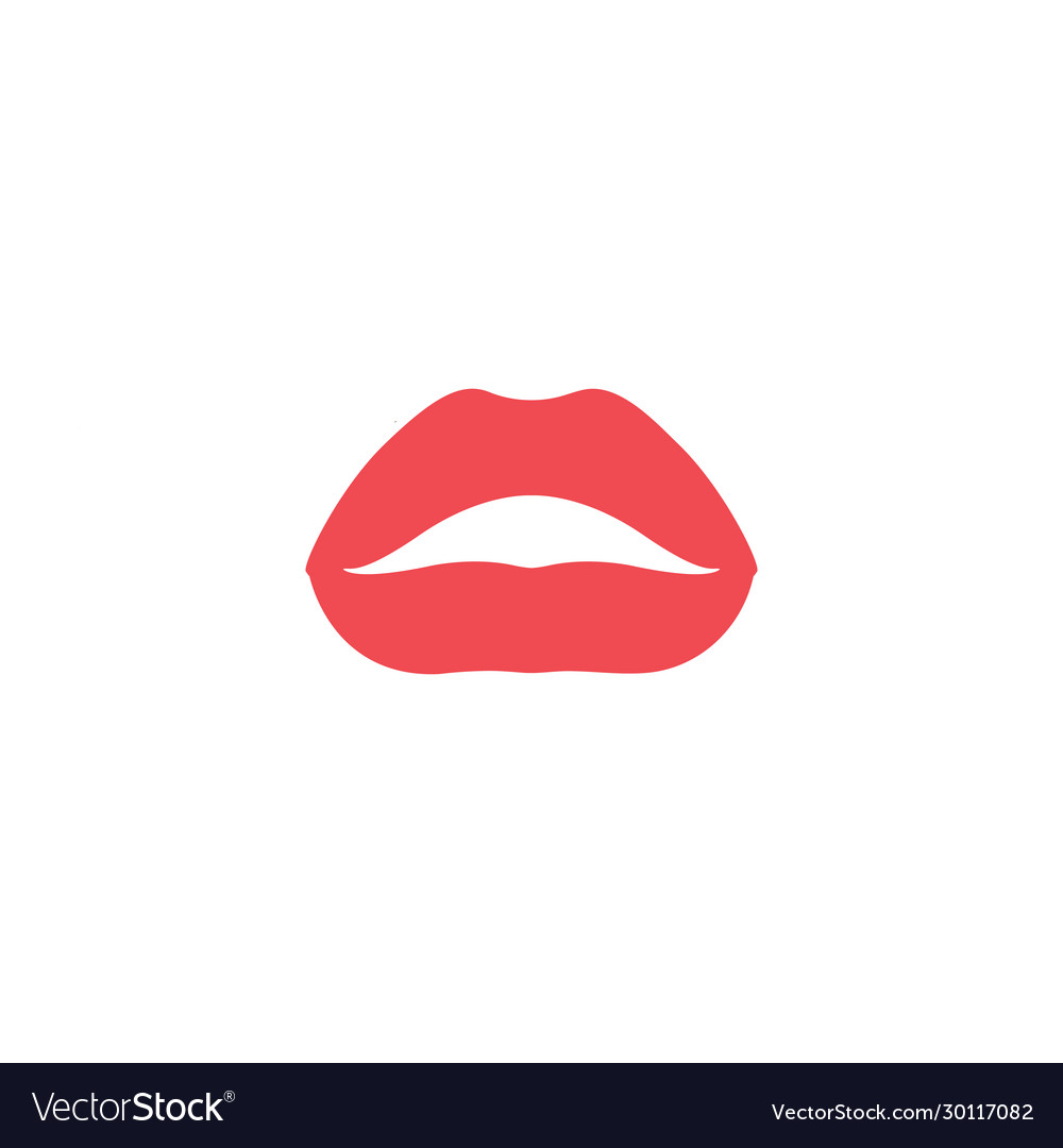 Lips graphic design template isolated