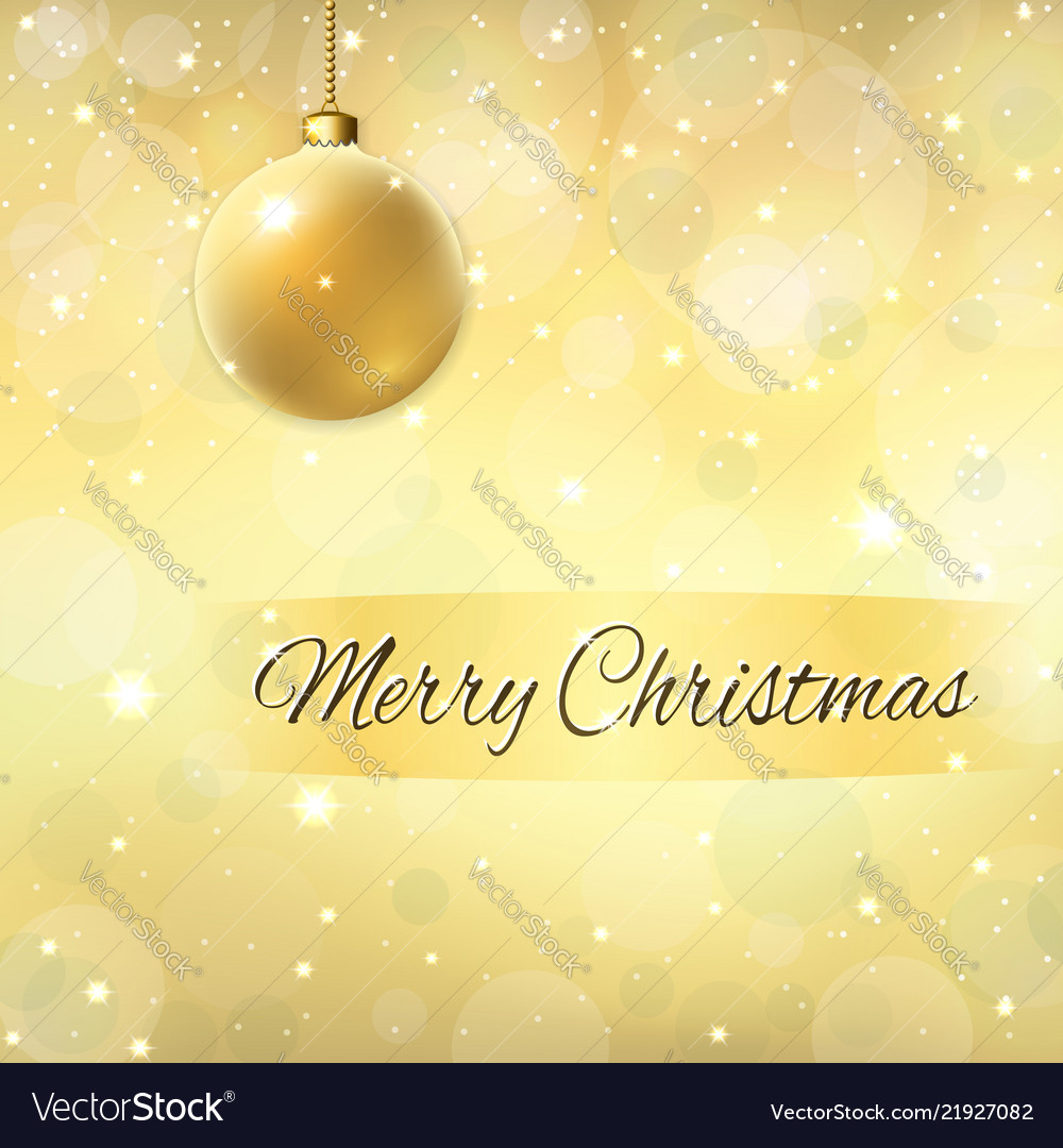 Merry christmas decoration gold background 3d