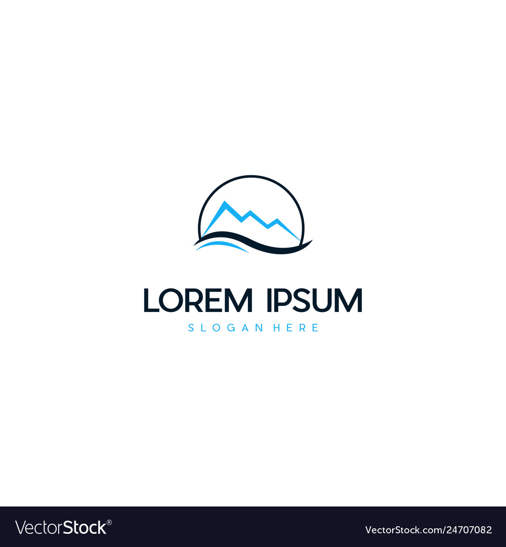 Mountain in circle creative idea logo design vector image