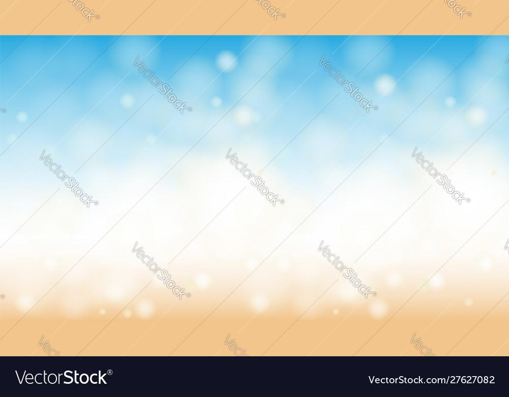 Ocean beach bokeh horizontal abstract background