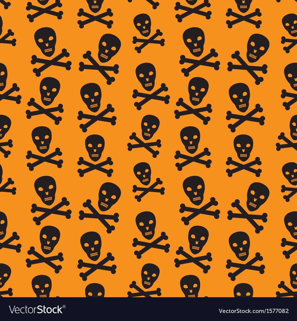 Orange background with skulls