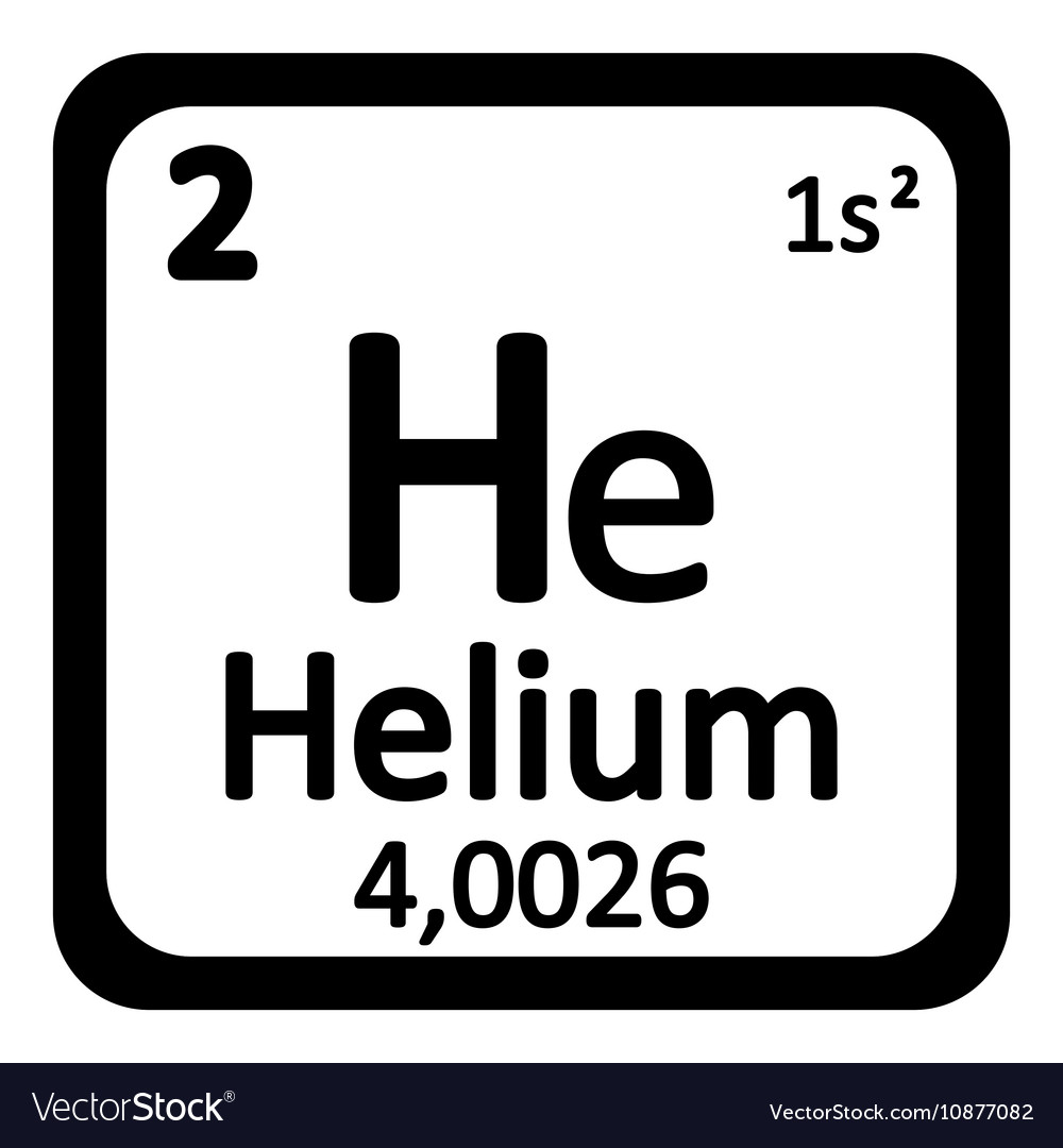 periodic table element helium icon vector image - Periodic Table Of Elements Vector Free