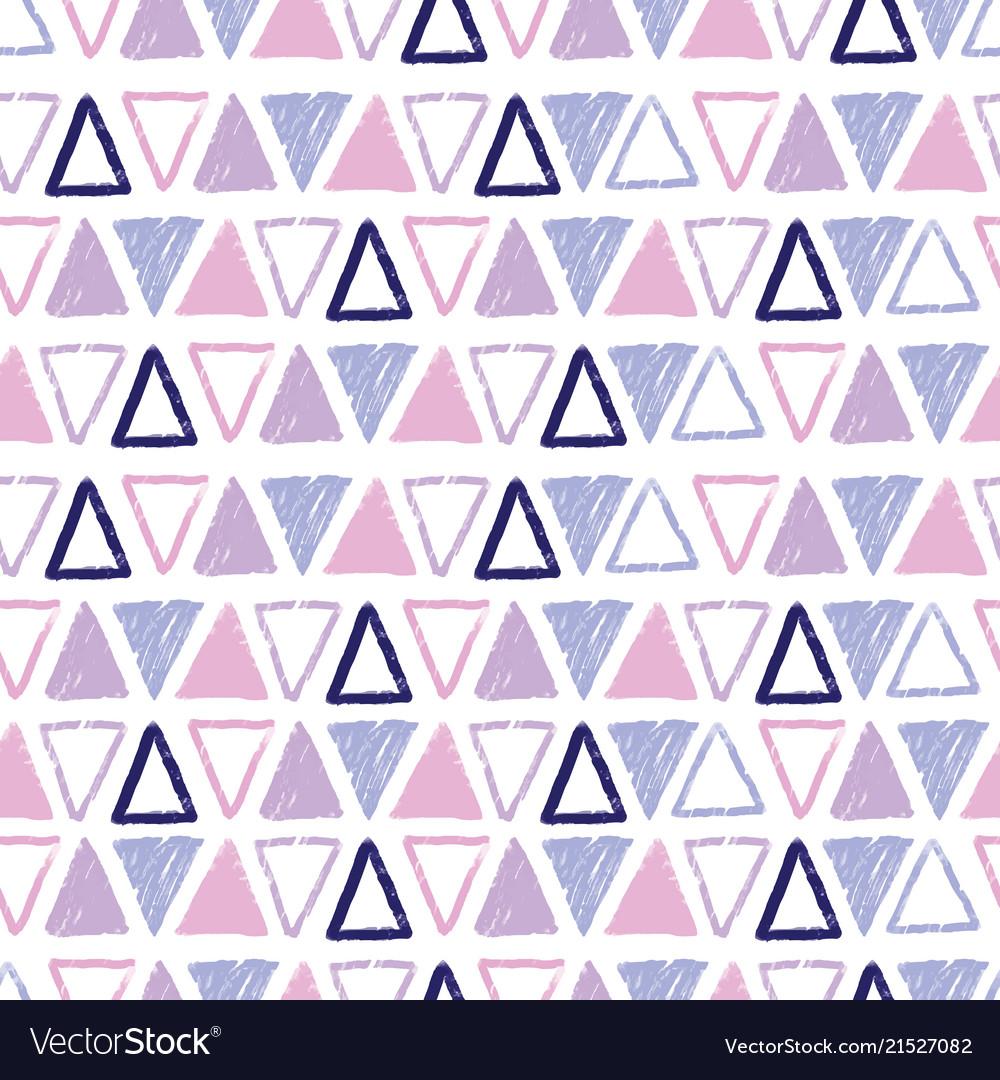 Purple pastel tribal triangles repeat pattern