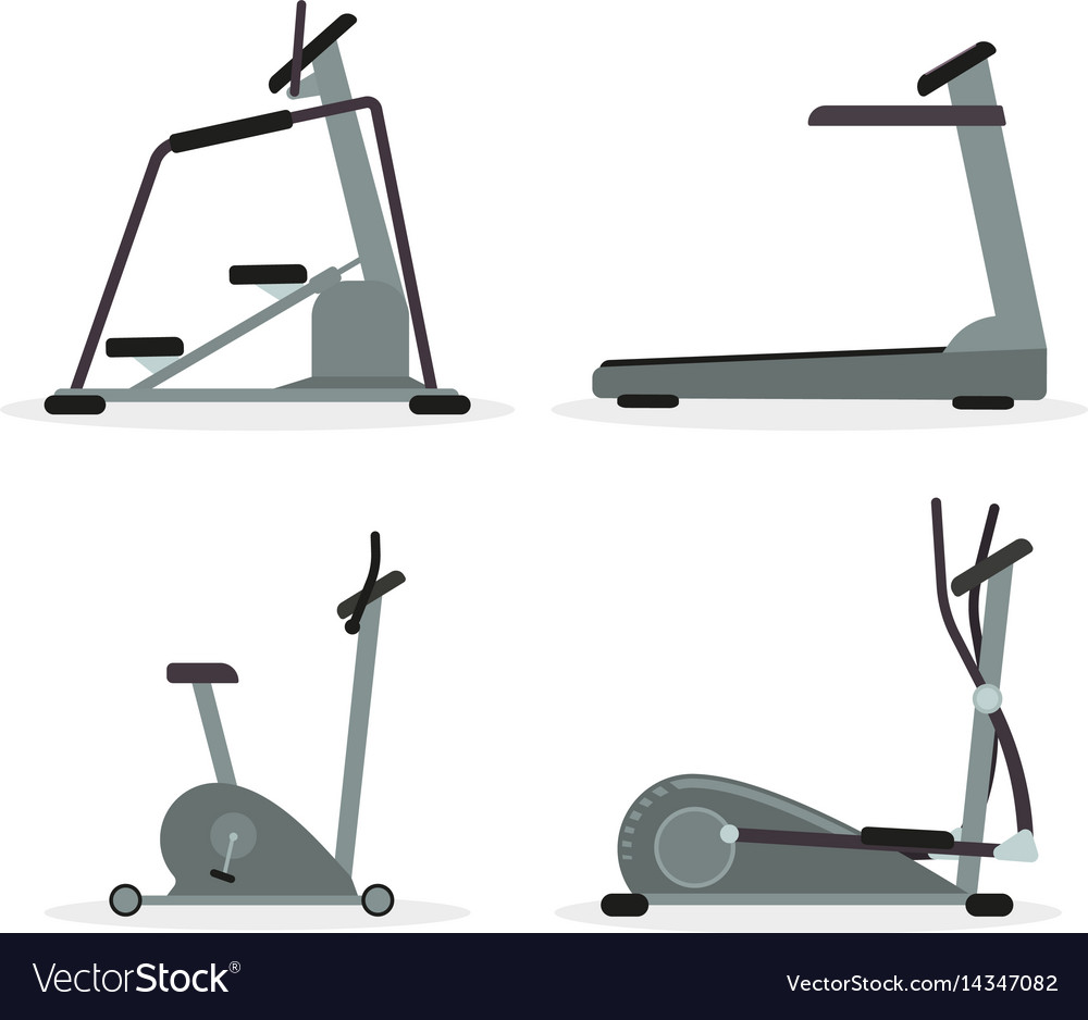 Set of cardio machines
