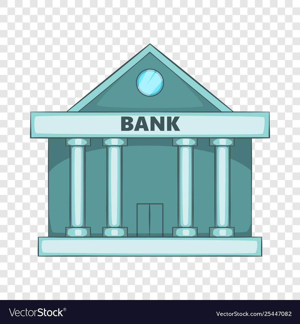Swiss Bank Icon Cartoon Style Royalty Free Vector Image