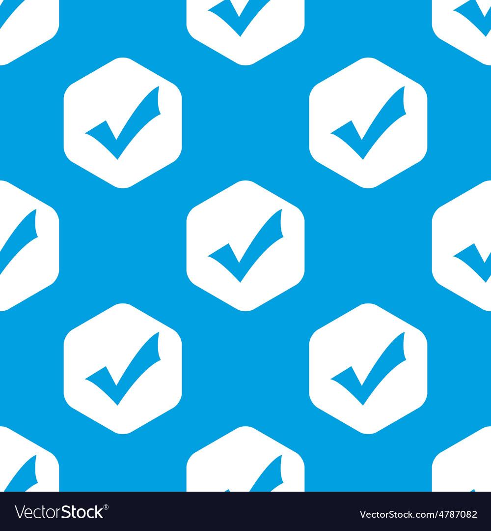 Tick mark hexagon pattern vector image