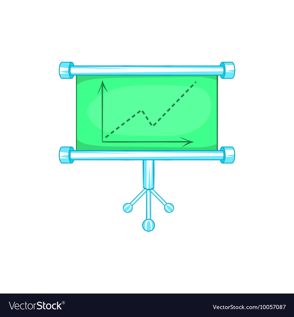 Board with statistics icon cartoon style