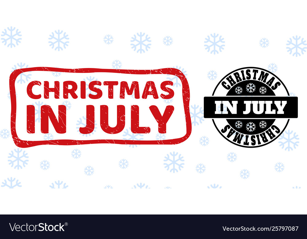 Christmas In July Background Images.Christmas In July Grunge And Clean Stamp Seals For