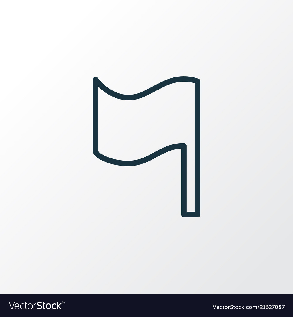 Flag icon line symbol premium quality isolated