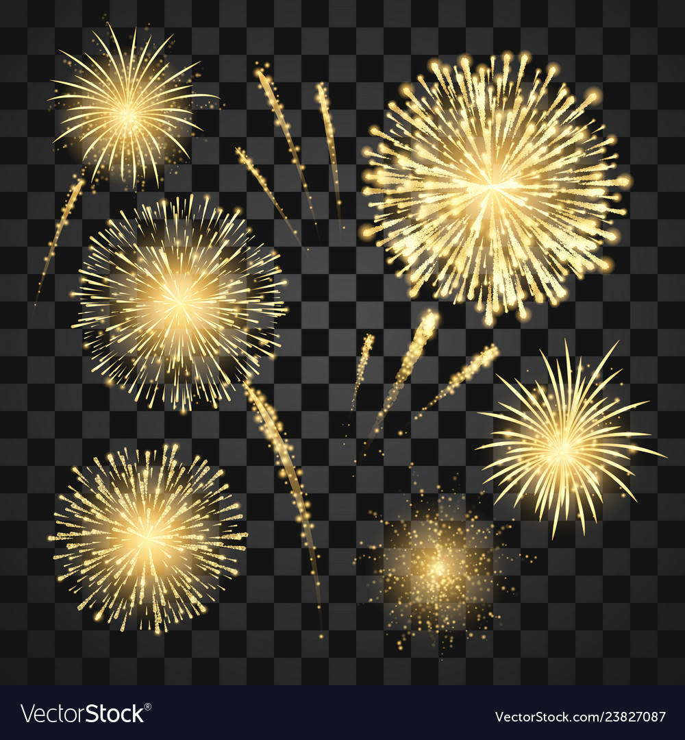 Gold festival fireworks set carnival fireworks