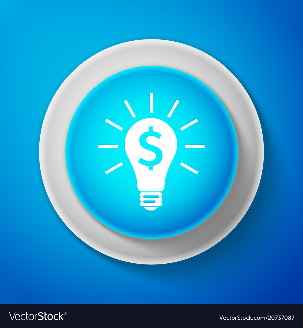 Light bulb with dollar symbol business concept