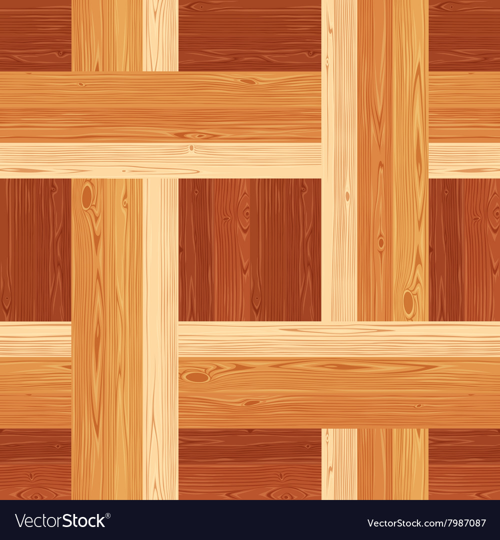 Netting Parquet Seamless Floor Pattern Royalty Free Vector