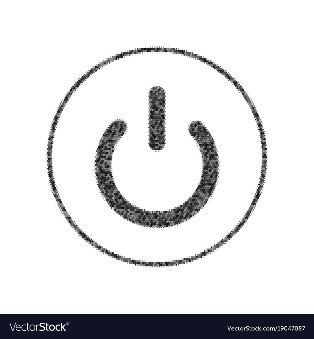 On off switch sign black icon from many Royalty Free Vector