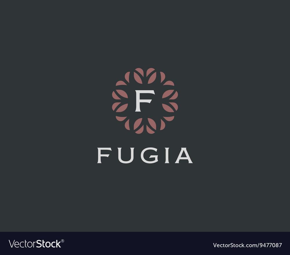 Premium monogram letter F initials logo Universal vector image
