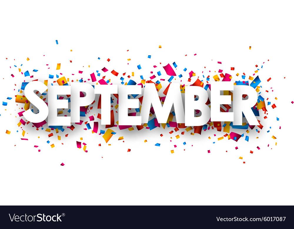 September sign vector image