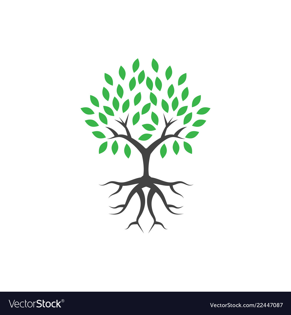 Tree wellness logo icon design template
