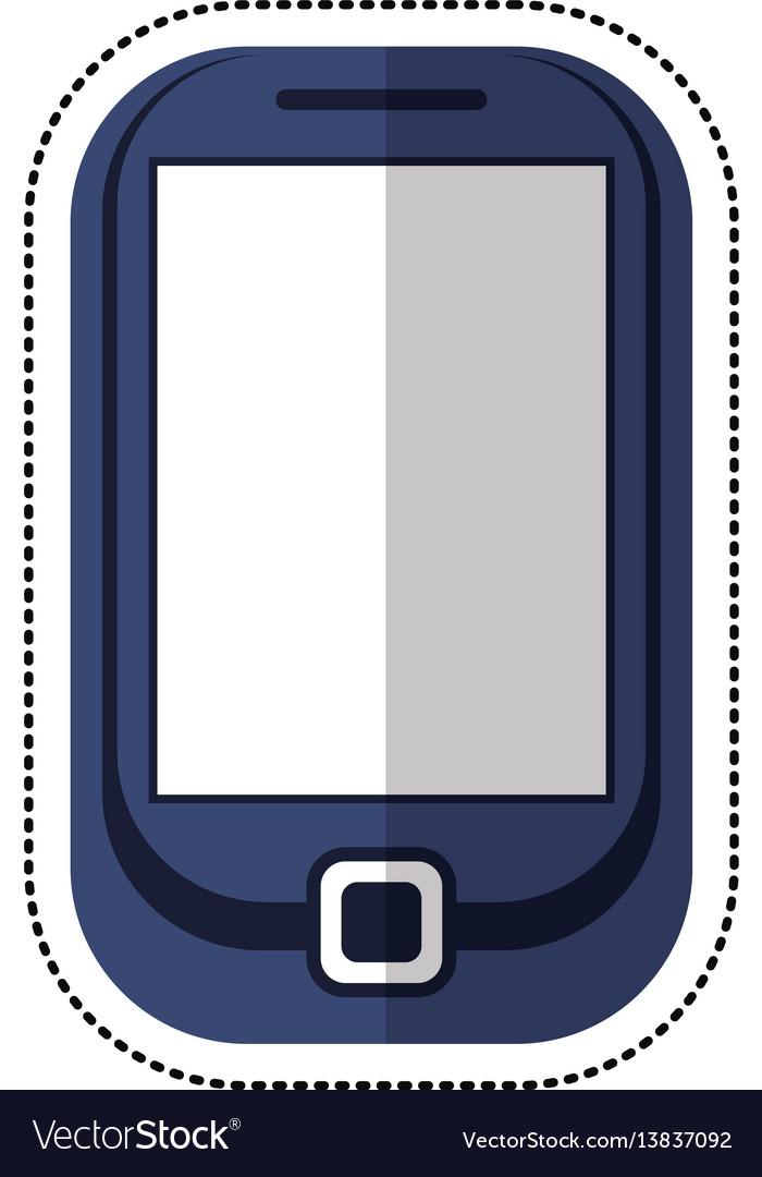 Cartoon cellphone mobile technology icon