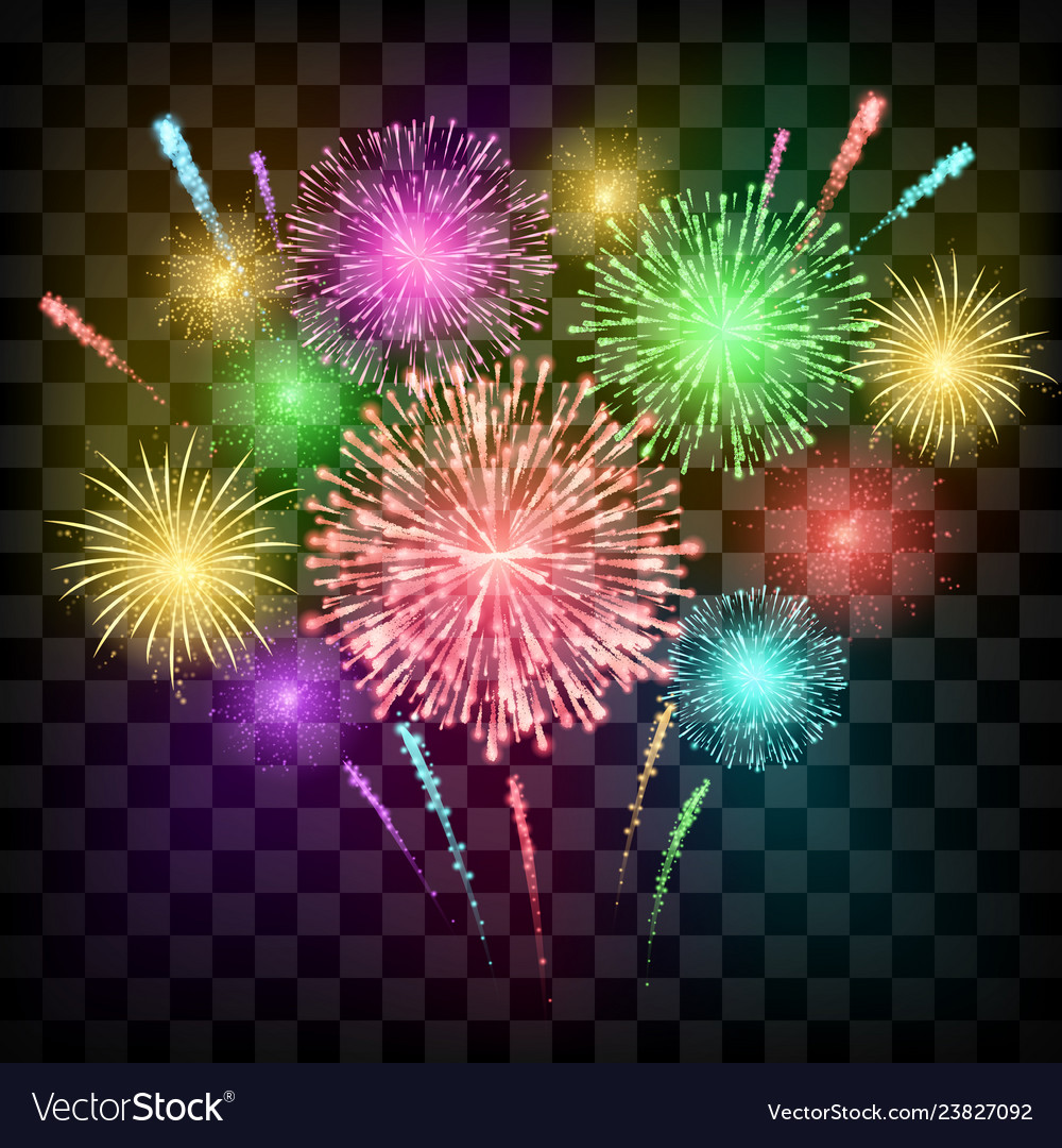 Festival fireworks banner for diwali or christmas