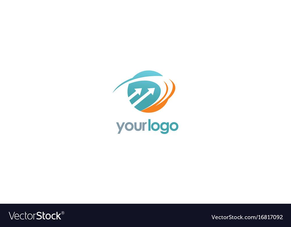 Round loop arrow logo