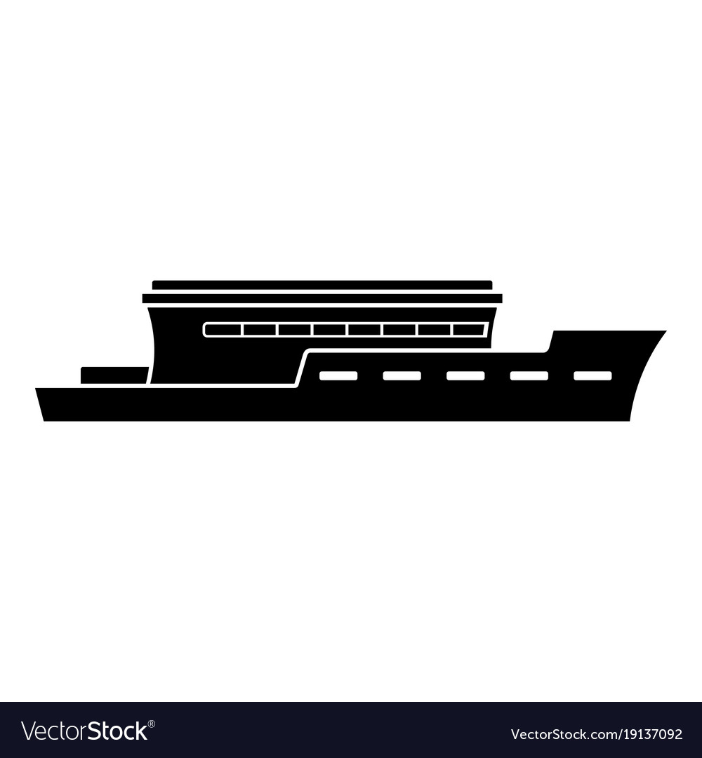 ship river icon simple black style royalty free vector image vectorstock