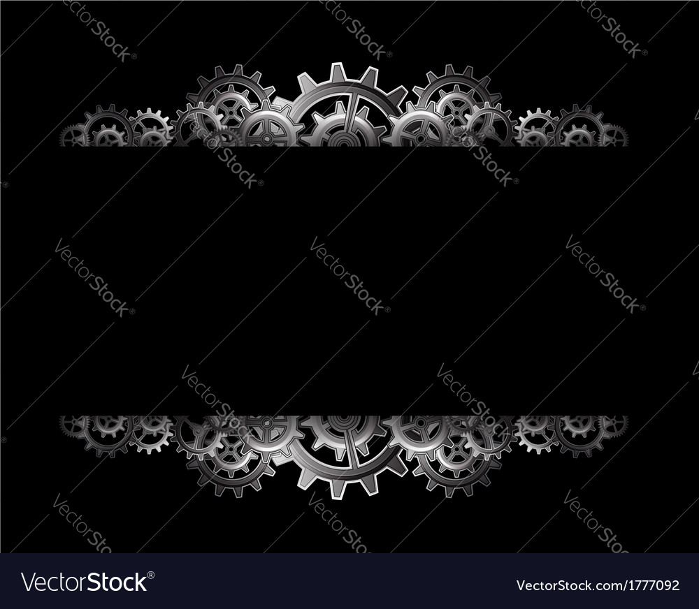 Steampunk gears frame Royalty Free Vector Image