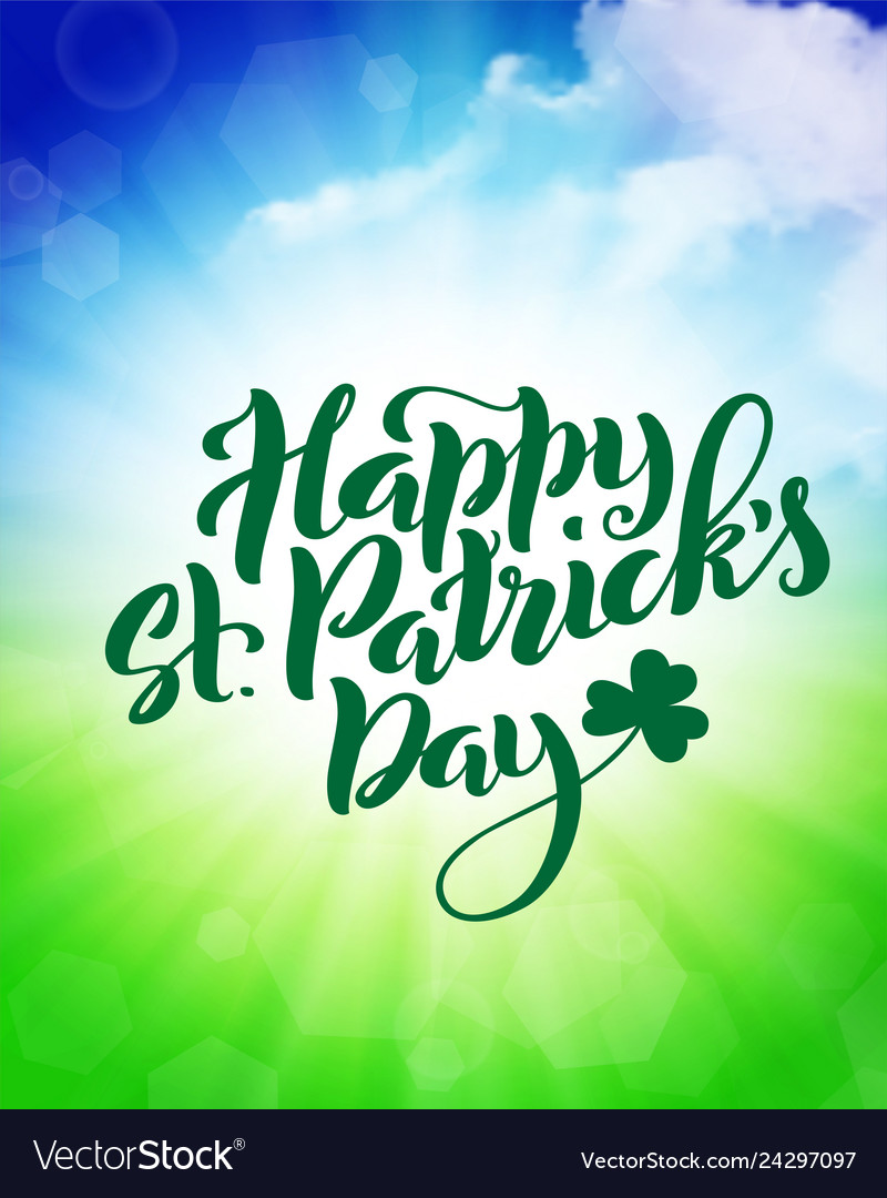 Happy saint patricks day card template poster