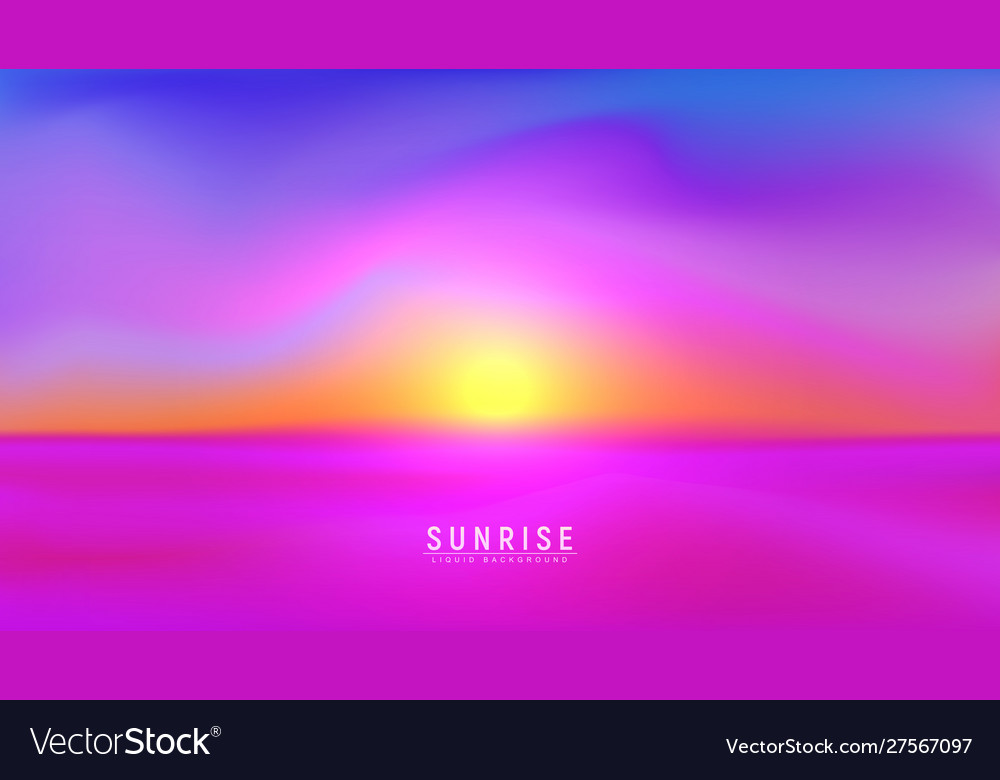 Landscape sundown or sunrise