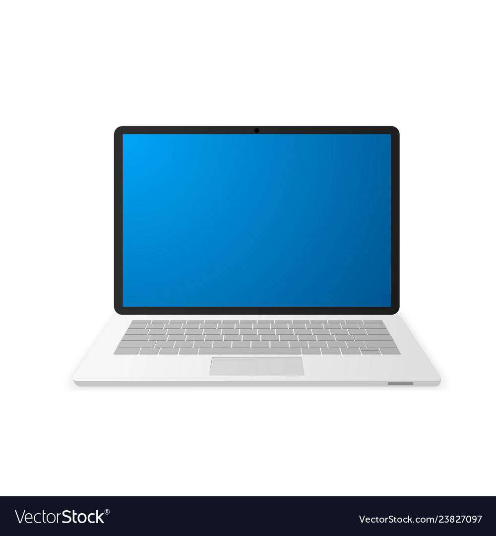 Laptop with empty screen notebook icon