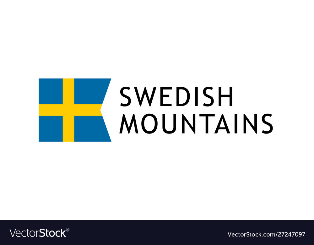 Logotype template for tours to swedish mountains