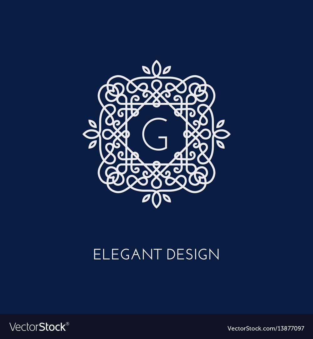 Monogram design template