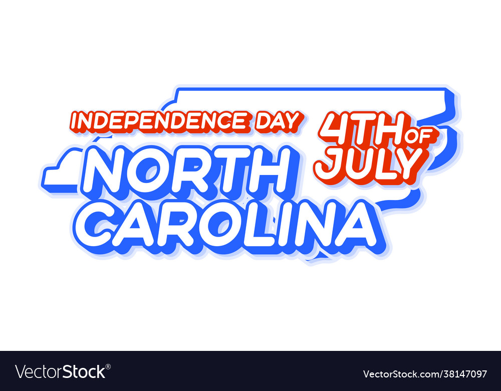 North carolina state 4th july independence day