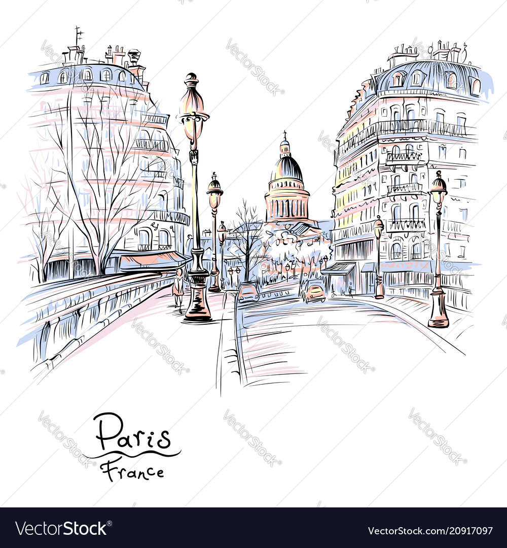 Paris in the winter morning france