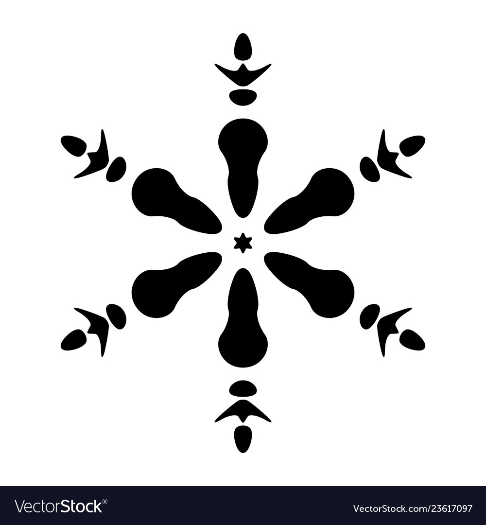 Simple snowflake isolated