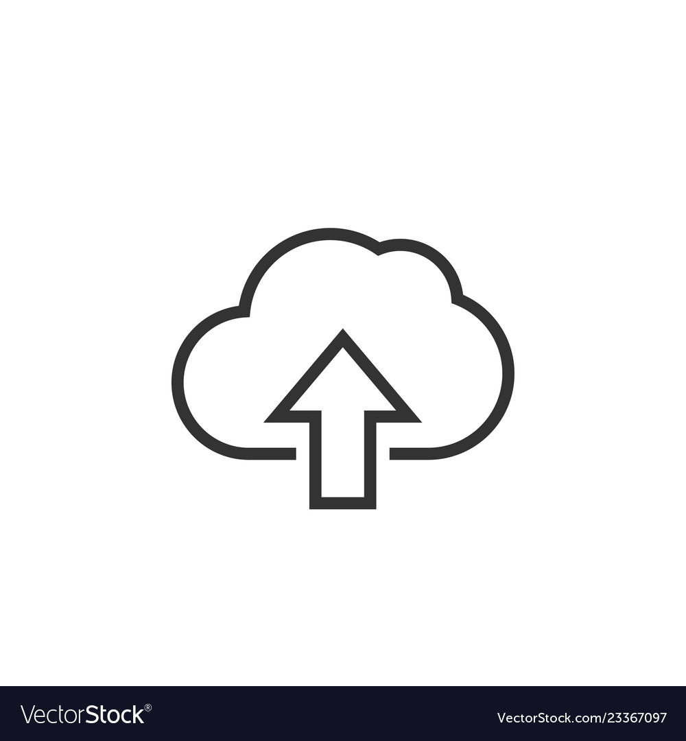 Upload cloud graphic icon design template