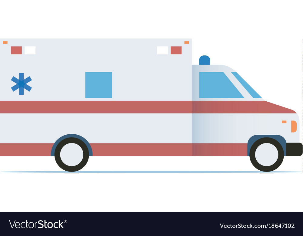 Ambulance car flat design icon