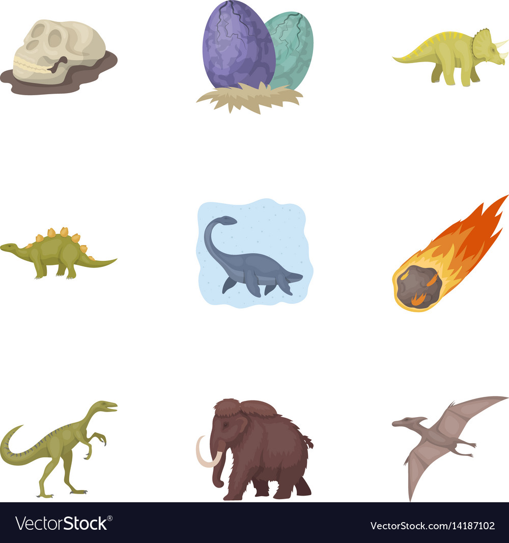 Image of: Went Extinct Vectorstock Ancient Extinct Animals And Their Tracks And Vector Image