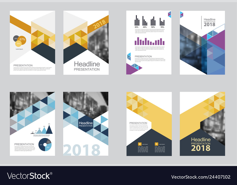 Business abstract template brochure design