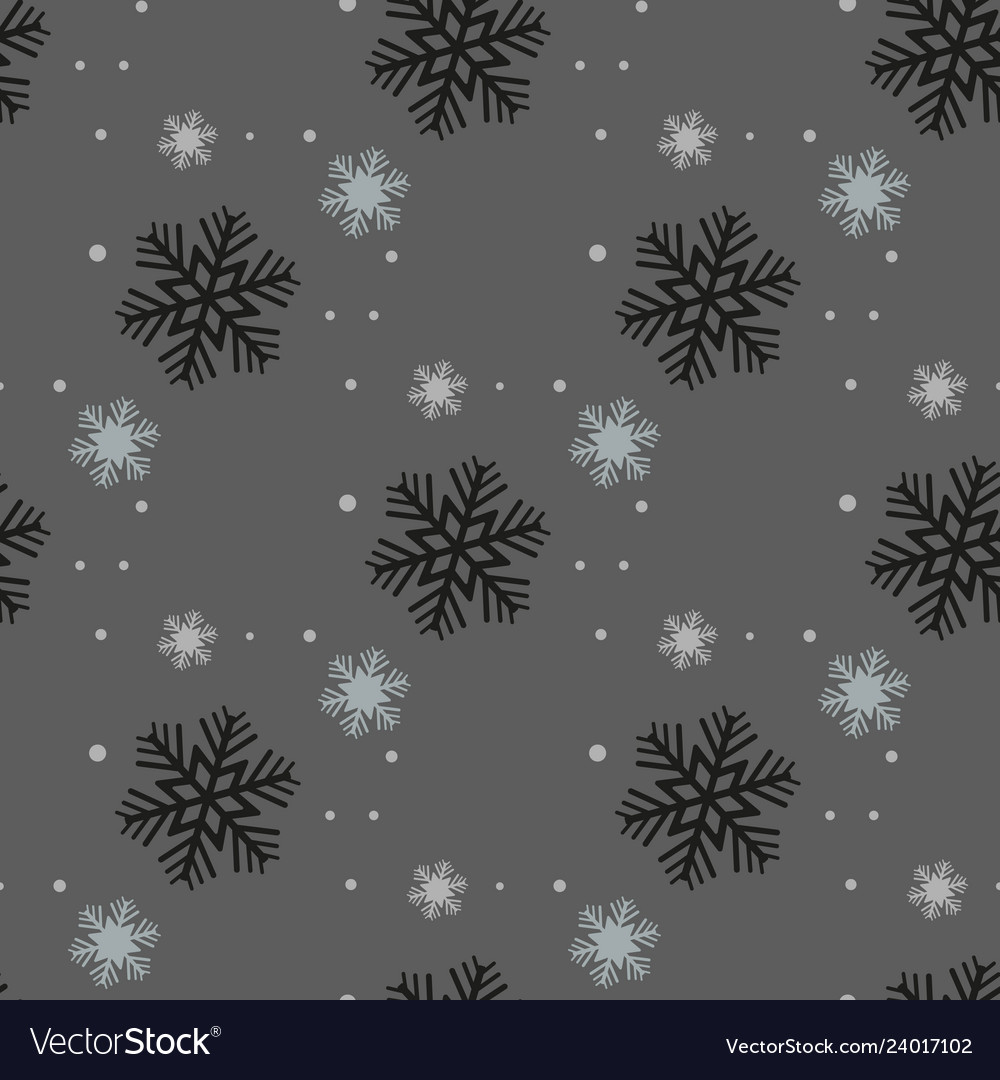Christmas and new year seamless gray pattern