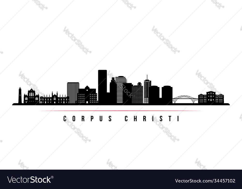 Corpus christi skyline horizontal banner