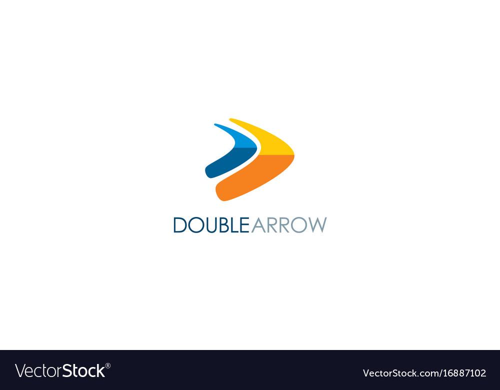 Double arrow colored logo