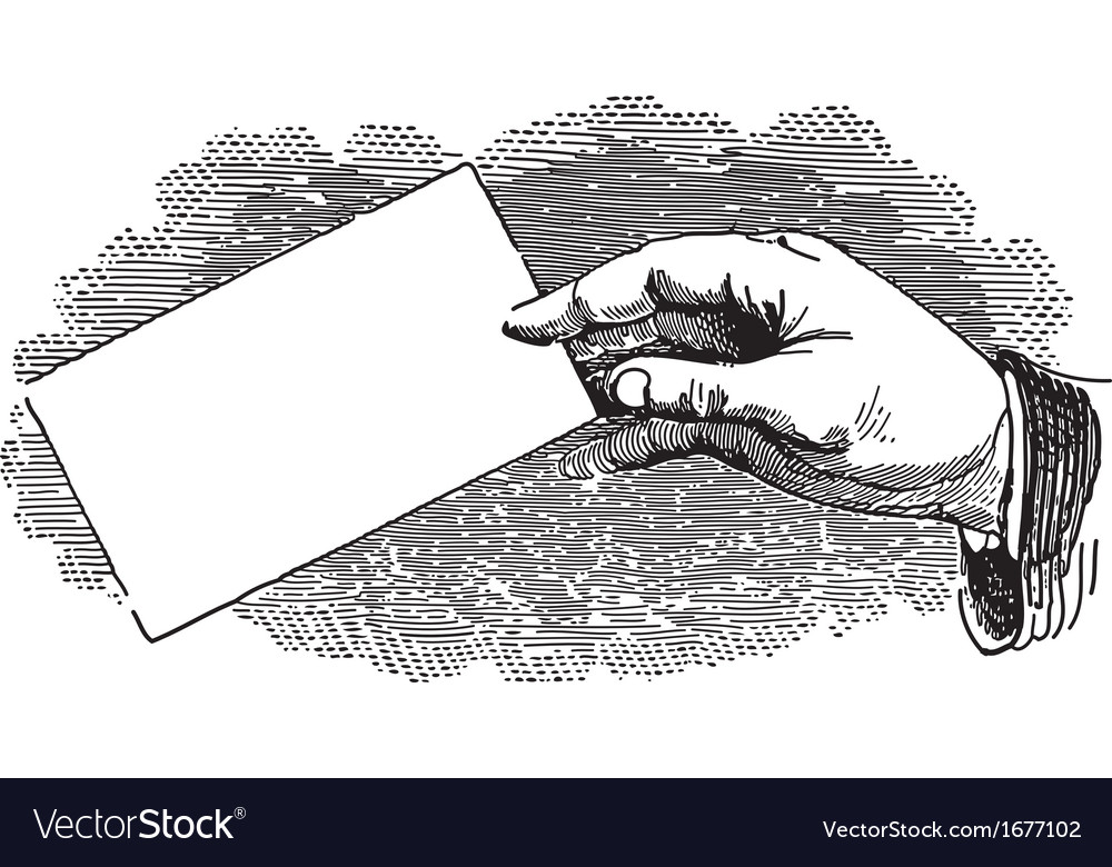 Hand and Card vector image