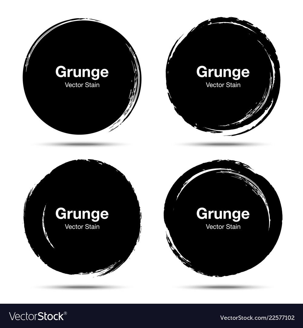 Hand drawn circle brush circular grunge doodle
