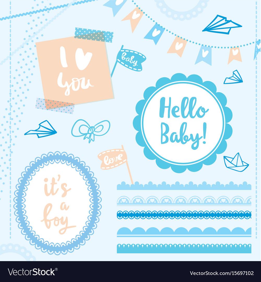 Set elements hello baby boy