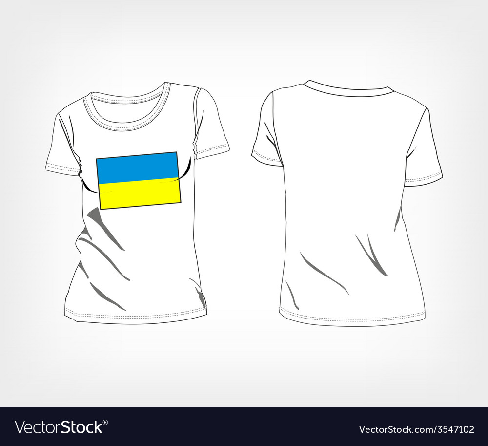 4af82a8cf T-shirt with flag of Ukraine Royalty Free Vector Image