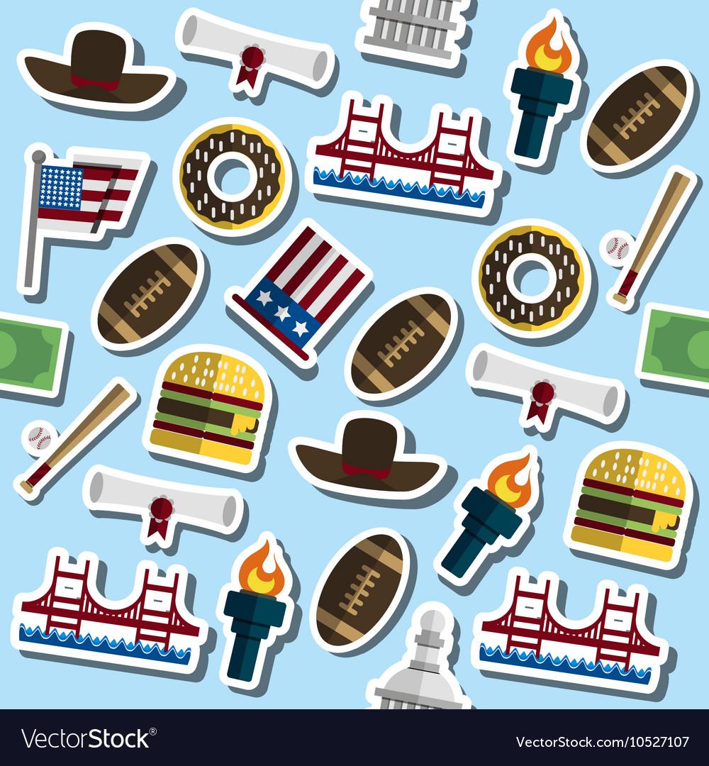 Colored USA pattern