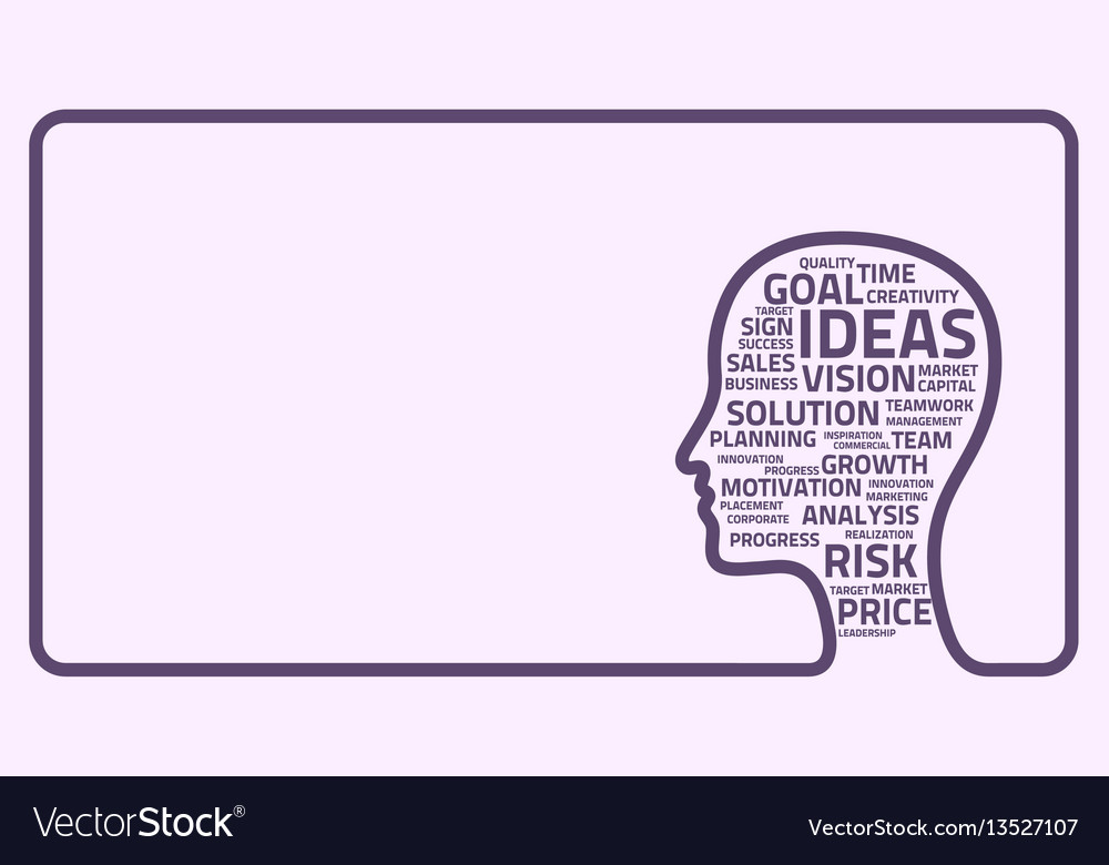 Inspiration concept head vector image