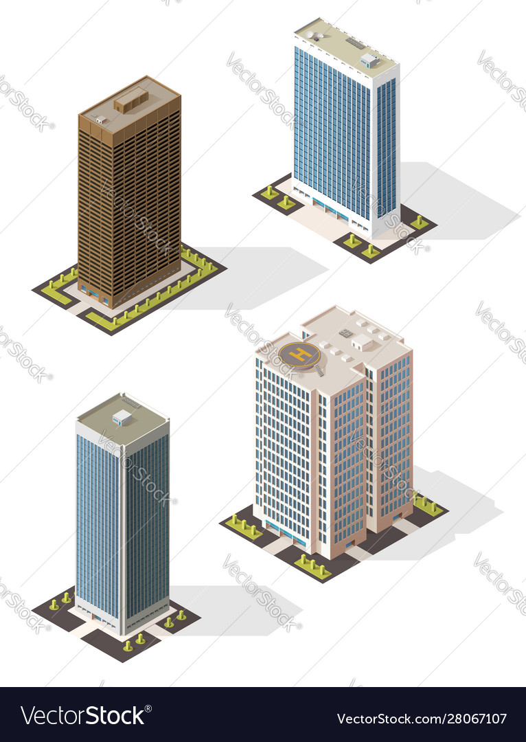 Skyscraper tall building icons business center
