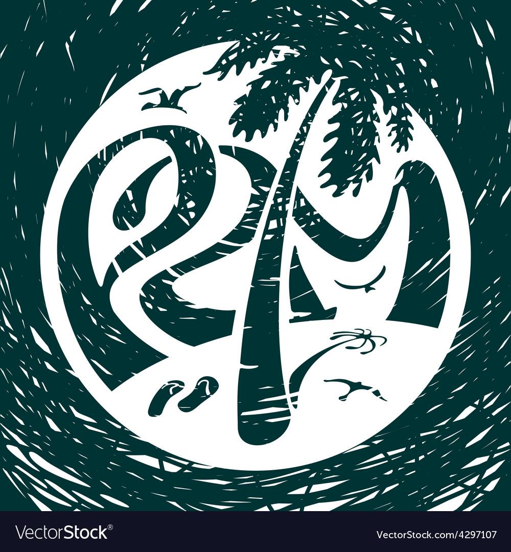 Symbol Lettering Palm