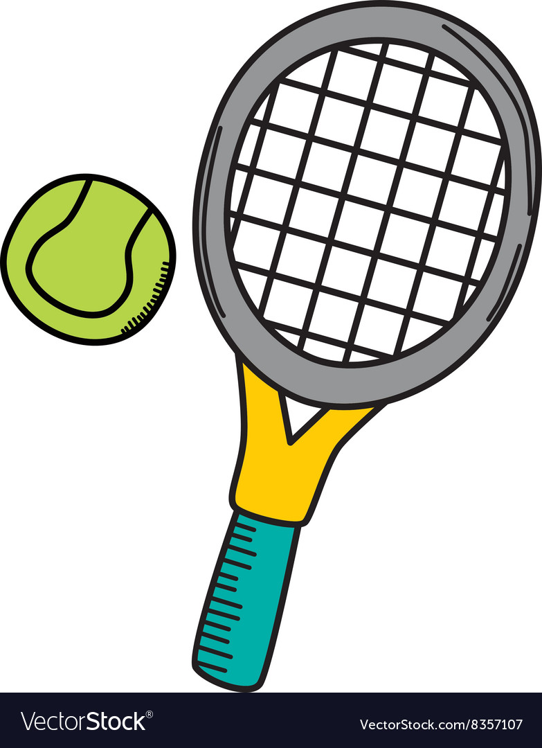 Tennis cartoon icon theme Royalty Free Vector Image