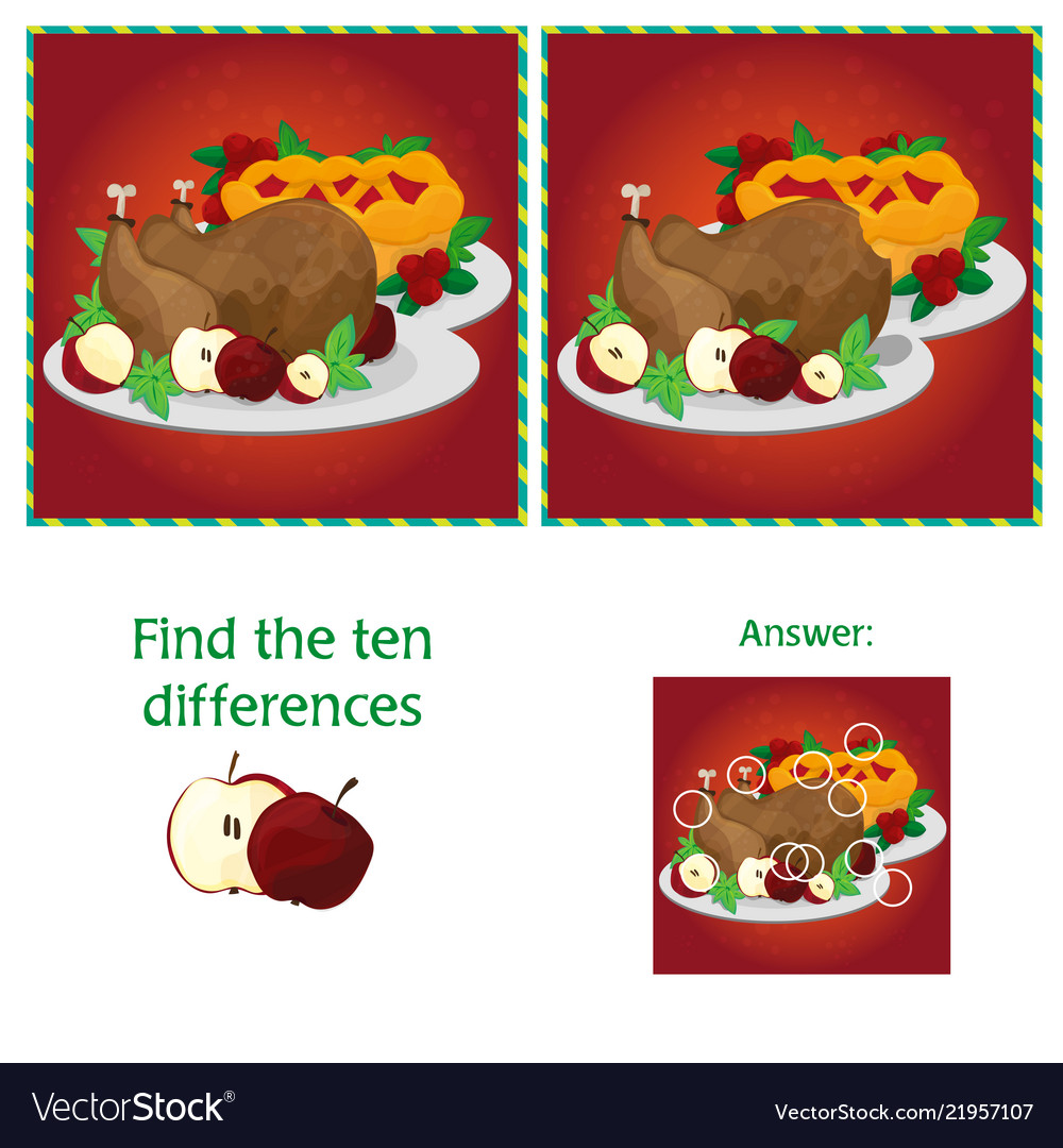 Visual game for children task - find 10